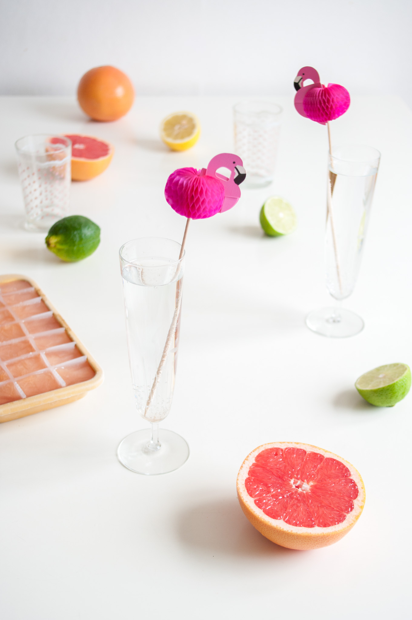 Citrus Fizz with Lemon, Lime and Grapefruit – A super healthy, non-alcoholic drink recipe with a blend of fresh citrus juices and sparkling water. Low-sugar and packed with vitamins C and other vitamins and minerals. Great for a pick-me-up any time of the day. By @deliciouscratch | deliciousfromscratch.com