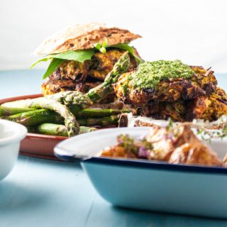 Courgette burgers with feta