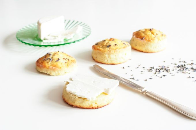 Lavender scones with cheese