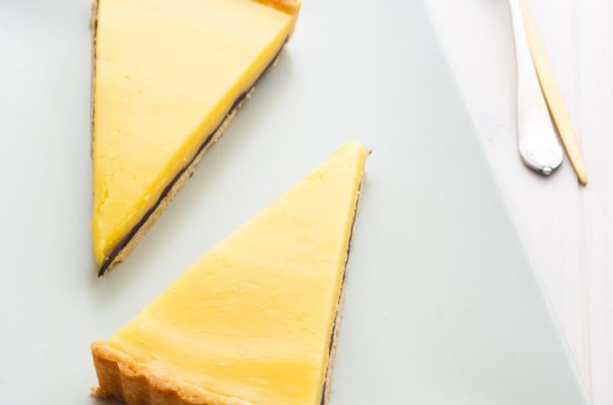 Lemon tart with a surprise!