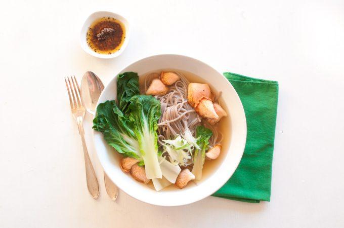 Miso ramen with pak choi