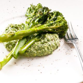 Roasted Tenderstem – Quick-roasted tenderstem broccoli. A healthy side dish recipe that's ready in minutes. By @deliciouscratch | deliciousfromscratch.com