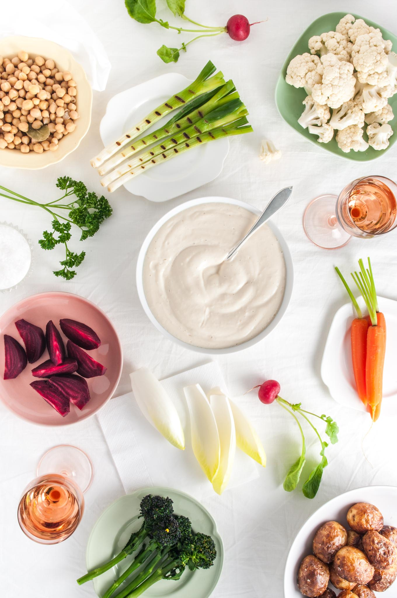 Silken Tofu Aioli with Winter Vegetables – A feast of seasonal vegetables, typical of Provence in southern France, here served with an aioli based on soft silken tofu for a nutritious, vegan alternative. By @deliciouscratch | deliciousfromscratch.com