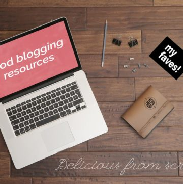 Food Blogging Resources - if you're wondering how to start a food blog, here are my best tips and tools.