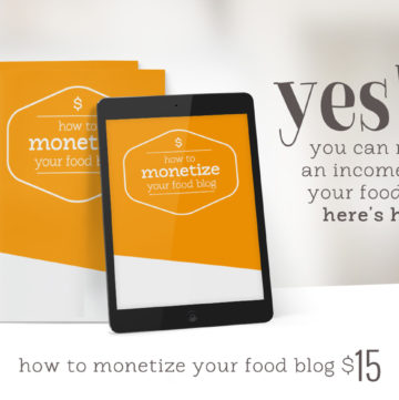 Food Blogging Resources to Monetize your Website - if you're wondering how to make money from a food blog, here are my best tips and tools.