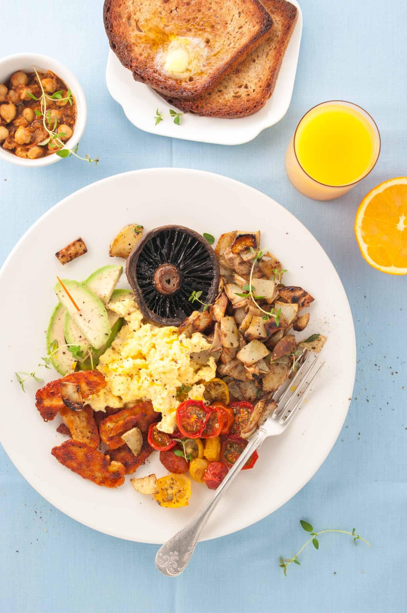 Vegetarian full english breakfast delicious from scratch vegetarian full english breakfast forumfinder Choice Image