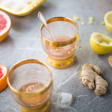 Grapefruit, lemon and ginger mocktail recipe