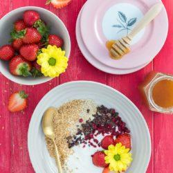 Healthy flaxseed breakfast bowl recipe
