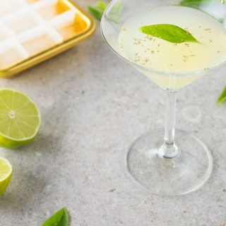 Thai basil and citrus cocktail