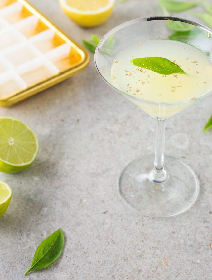 Lemon, Thai basil and gin cocktail recipe