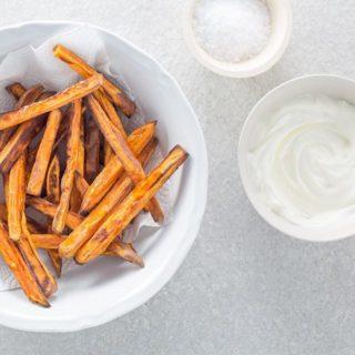 Easy, crispy sweet potato oven fries!