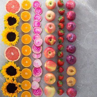 A rainbow of sunny veggies