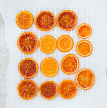 Candied blood orange slices recipe – a beautiful orange garnish