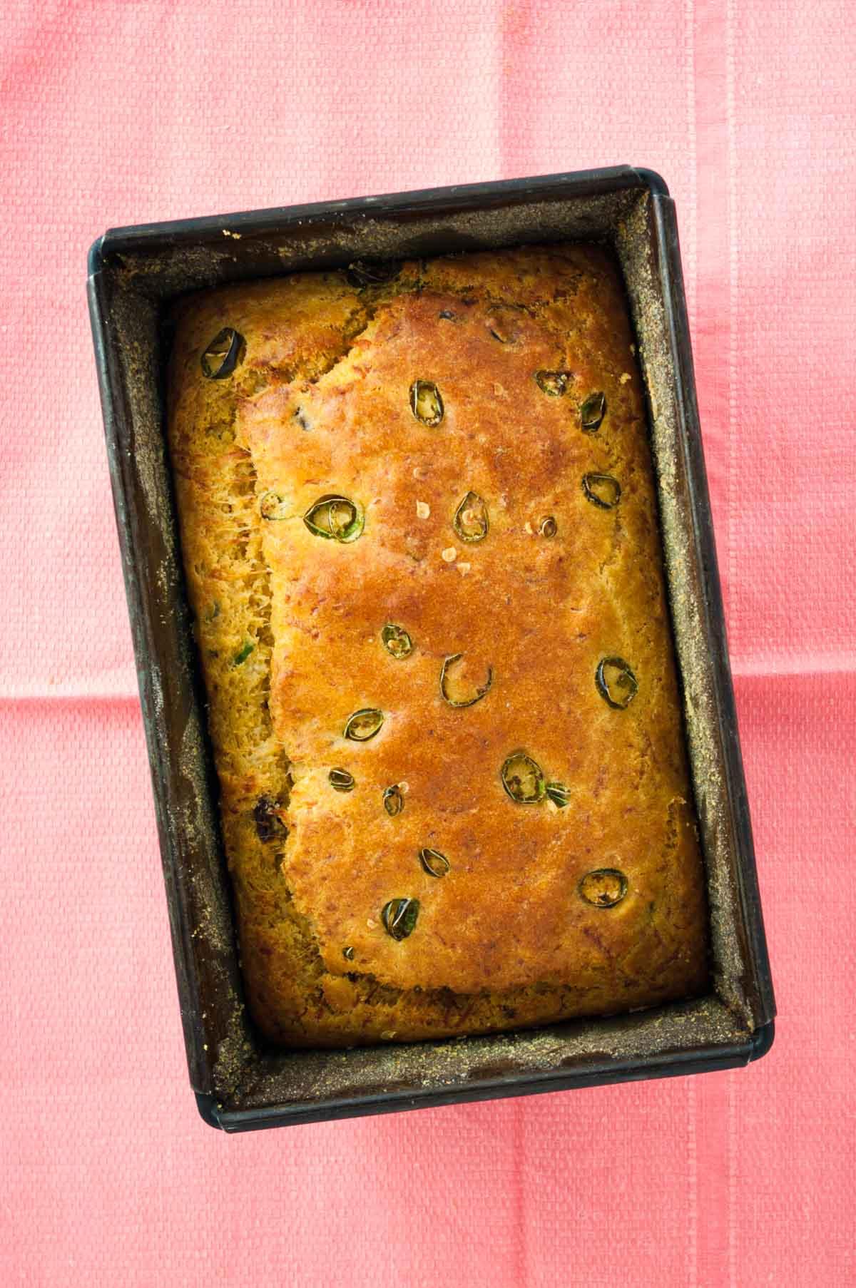 Halloumi cornbread with chilli recipe