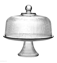 Best Glass Cake Dome - Vintage Ribbed Glass Food Dome