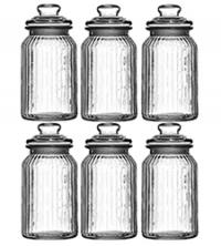 Best Kitchen Storage Jars - Vintage Glass Ribbed Kitchen Jars