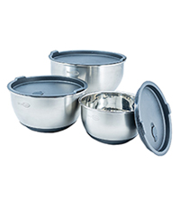 Best Metal Mixing Bowls and Storage with Lids - SimpliFine Stainless Steel Making Bowl Set with Lids