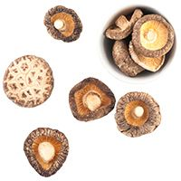 Umami-rich dried mushrooms – soak whole or grind to powder.